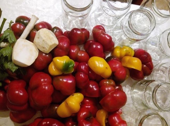 gogosari in otet - Bucatareli la borcan